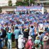 沖縄 県民大会に4万5000人が結集 島ぐるみで新基地建設に対抗