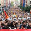 独立運動がゼネストに発展 スペイン・カタルーニャ自治州
