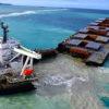国際的信用にかかわる重大事故 モーリシャス沖で座礁した貨物船から重油1000㌧流出